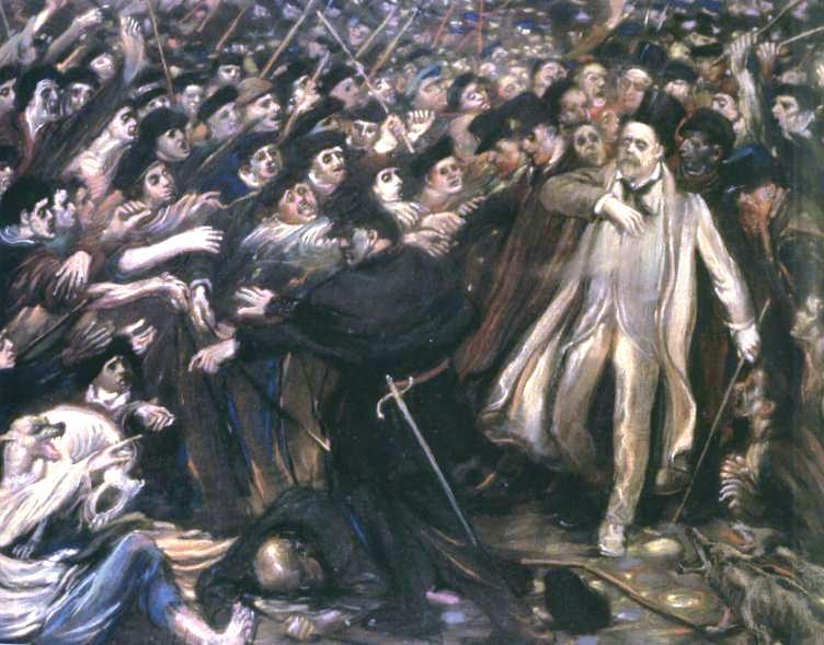 Henry de Groux, Zola aux outrages, 1898