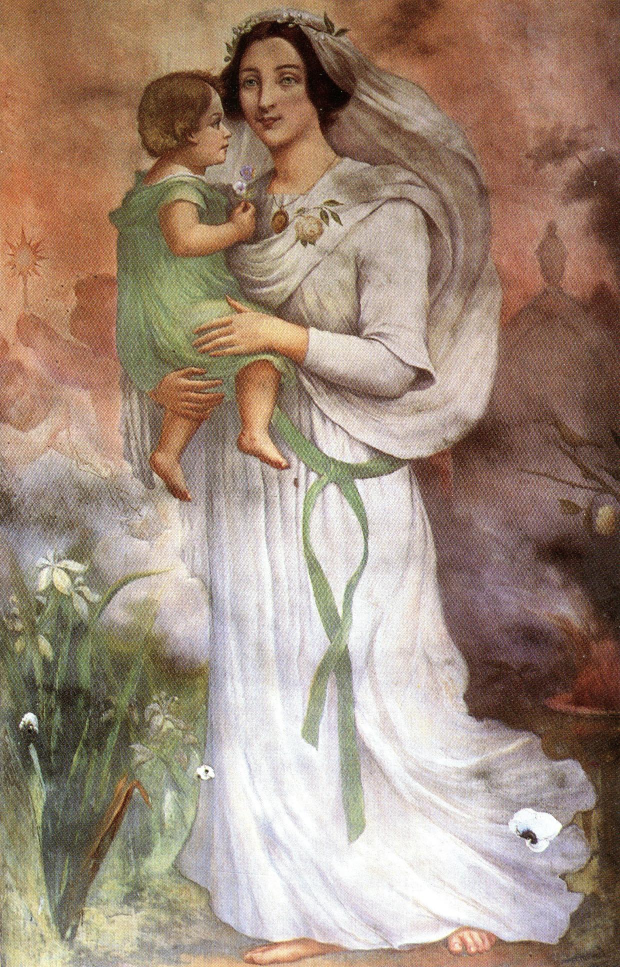 Eduardo de Sa, L'Humanité, avec l'Avenir dans ses bras (1900), Chapelle de l'Humanité. Paris