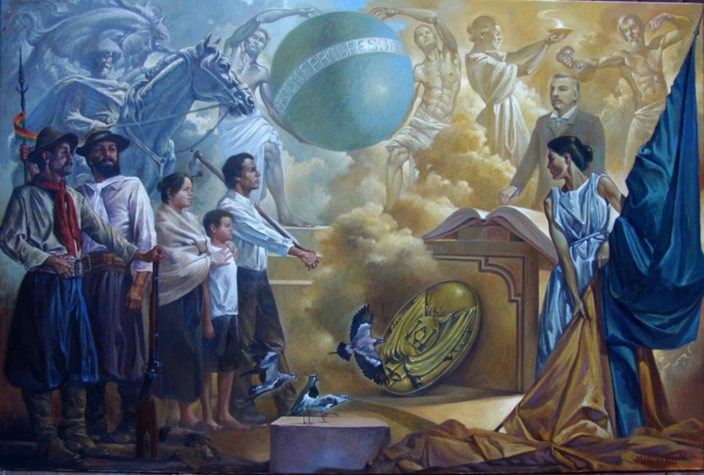 Apoteose a Júlio de Castilhos by Marciano Schmitz (posession of Eliseu Padilha)
