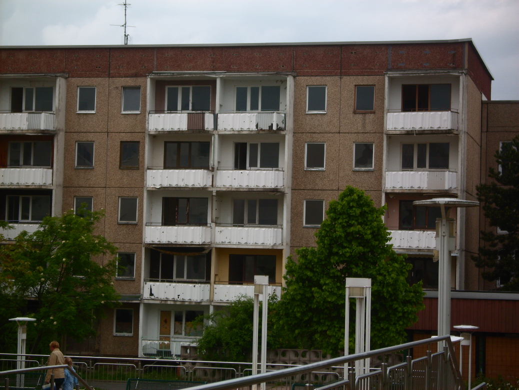 Plattenbau, left by its former inhabitants