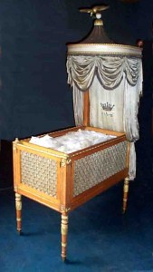 Still waiting to be used: the cradle that was made for Joanna Southcott's child in 1815 (the prophetess who claimed to be pregnant was then already in her 60s)