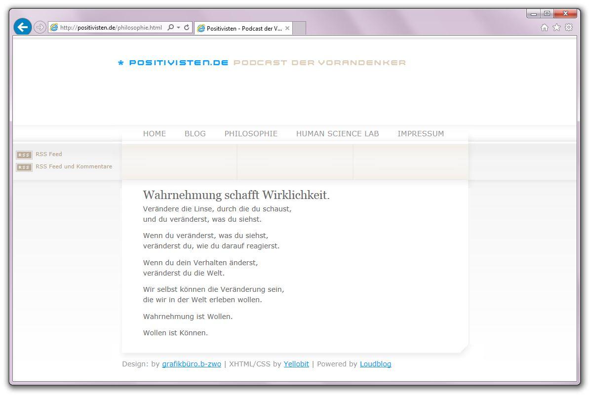 Positivisten.de. Philosophie