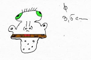 """""""Durchmesser vom Masernvirus? Ist doch ein alter Hut! Da ist es."""" [Danke an Herrn Schlotthaus]"""