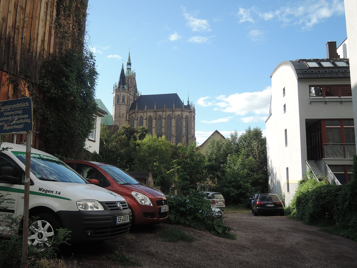 Erfurt's Cathedral, still visible