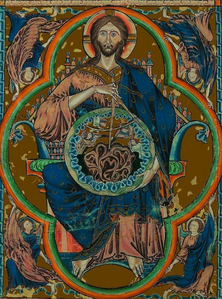 Bible Moralisée de Tolède. Dieu Pantocrator (God the Geometer) 1240